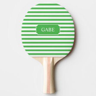 Personalised Green Stripe Ping Pong Paddle