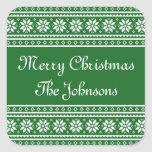 Personalised green UGLY CHRISTMAS SWEATER stickers