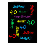 Personalised Greeting Card Any Name, Age, Occasion