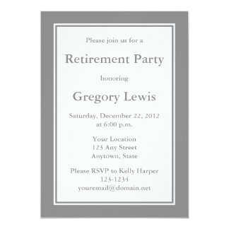 Personalised Grey Invitations or Announcements