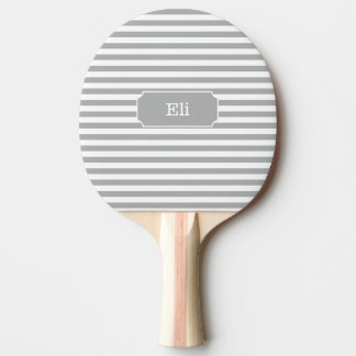 Personalised Grey Stripe Ping Pong Paddle