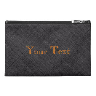 Personalised Grey Textured Bag Travel Accessory Bag