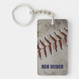 Personalised Grunge Dirty Baseball Key Chain
