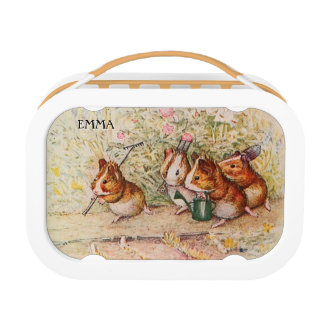 Personalised Guinea Pigs Gardening Lunch Box