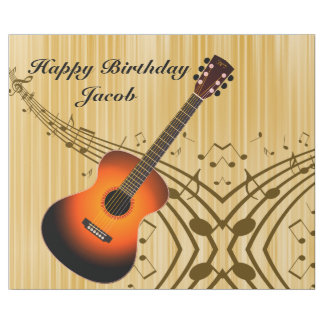 Personalised Guitar and Musical Notes Birthday