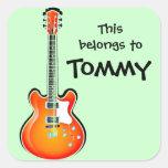 Personalised Guitar Sticker