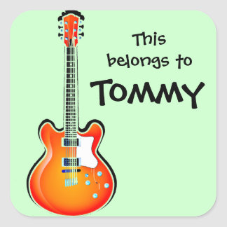 Personalised Guitar Sticker