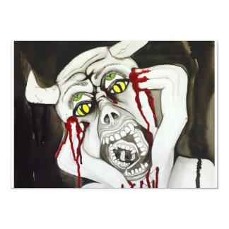 Personalised Halloween invite demon demonic