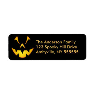 Personalised Halloween Smile Return Address Labels