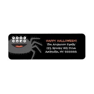 Personalised Halloween Spider Return Address Label