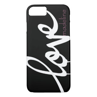 Personalised Handwritten Script Love iPhone 7 Case