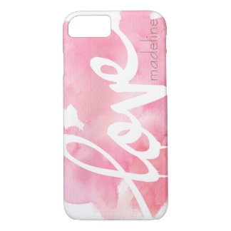Personalised Handwritten Script Love Watercolor iPhone 7 Case