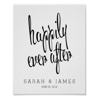 Wedding posters from Zazzle