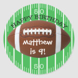 Personalised Happy Birthday Football Sticker