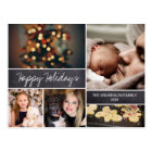 Personalised, Happy Holidays, Chalkboard, Photo Postcard