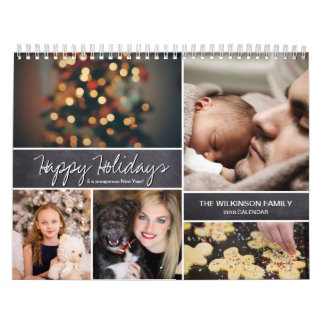 Personalised Happy Holidays, New Year, Photo Calendars