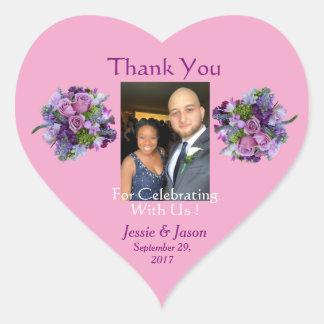 Personalised Heart Wedding Sticker