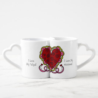 Personalised Hearts and Love Lovers Mugs