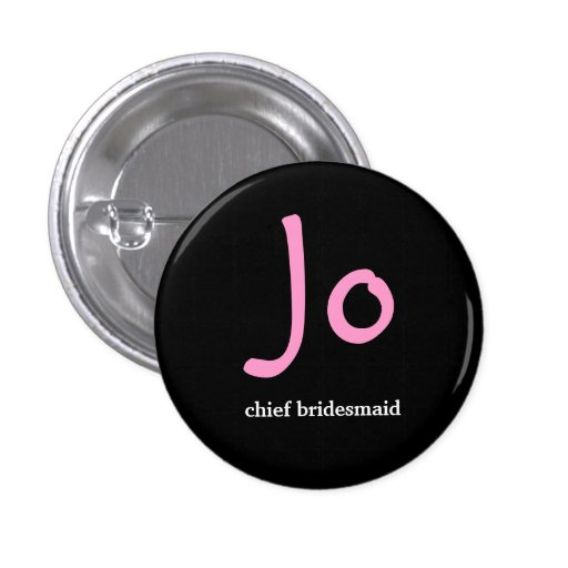 Personalised hens night button