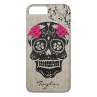 Personalised Hipster Sugar Skull iPhone 8 Plus/7 Plus Case