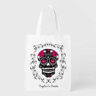 Personalised Hipster Sugar Skull Trick or Treat