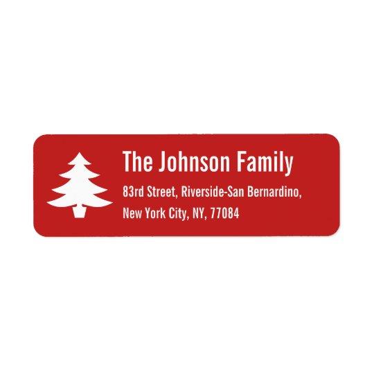 Personalised Holiday Christmas Tree Return Address Return Address Label