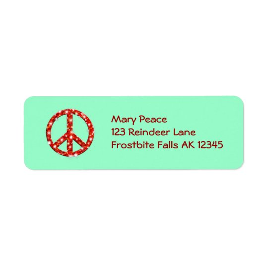 Personalised Holiday Peace Address Labels