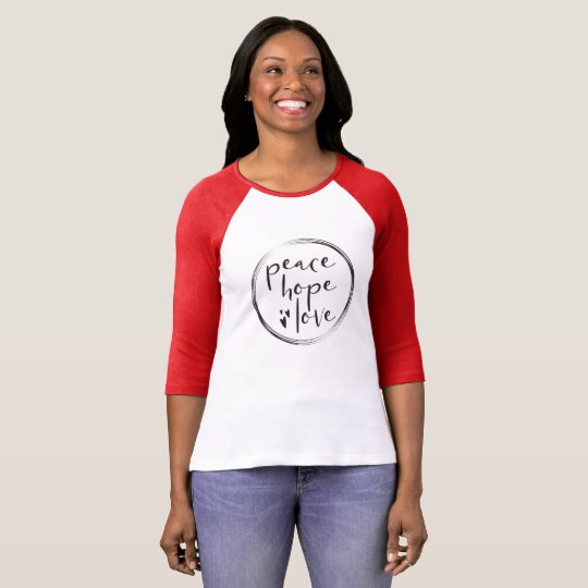 Personalised • Holiday • PEACE HOPE LOVE T-Shirt