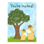 Personalised Horse Neutral Baby Shower Invitation