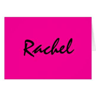 Personalised hot pink notecard