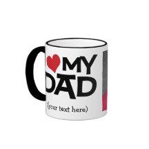 Personalised I Love My Dad Photo Mug