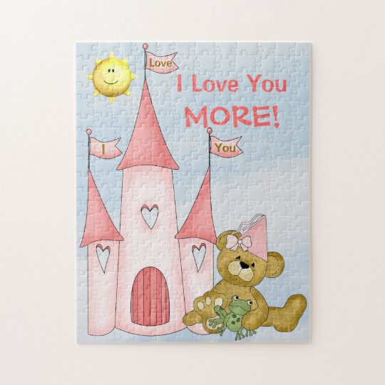 Personalised I Love You More puzzle Princess