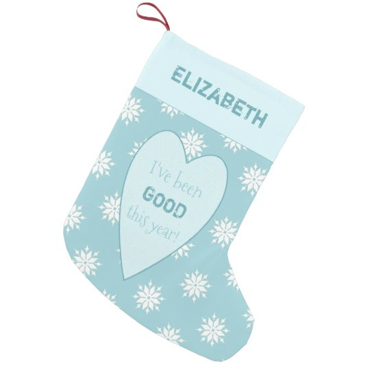 Personalised ice blue Christmas snowflakes