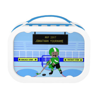 Personalised Ice Hockey star Lunchboxes