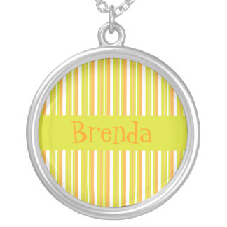 Personalised initial B girls name stripes necklace