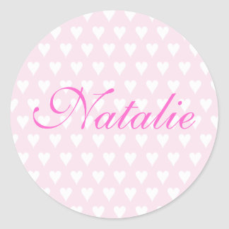 Personalised initial N girls name hearts stickers