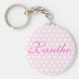 Personalised initial X girls name hearts keychain