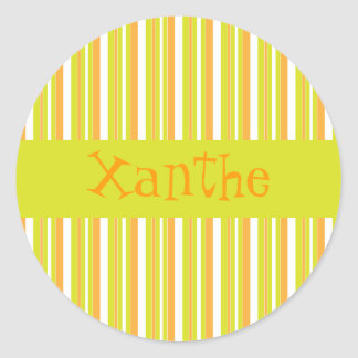 Personalised initial X girls name stripes stickers