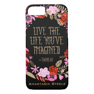 Personalised Inspiration Live Life Imagined Quote iPhone 7 Case