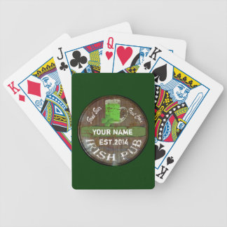 Personalised Irish pub sign Bicycle Playing Cards