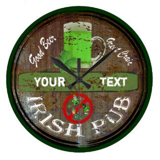 Personalised Irish pub sign Clocks