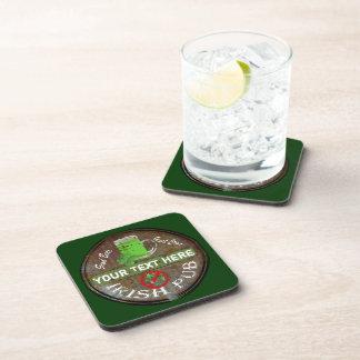 Personalised Irish Pub sign Coasters