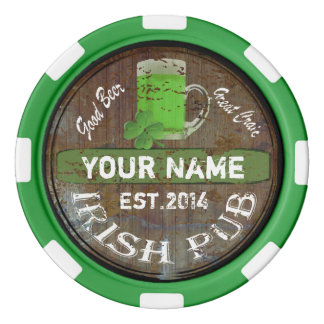 Personalised Irish Pub sign Poker Chips