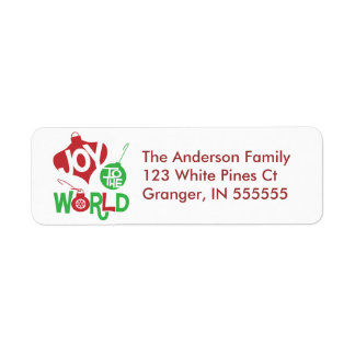 Personalised Joy to the World Address Labels