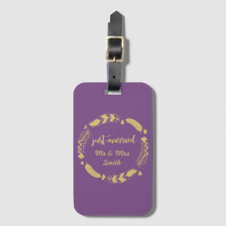 Personalised Just Married Luggage Tag