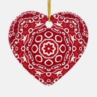 Personalised Kaleidoscopic Heart Ornament.1 Ceramic Ornament