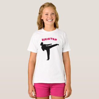 Personalised Karate Girl Shirt