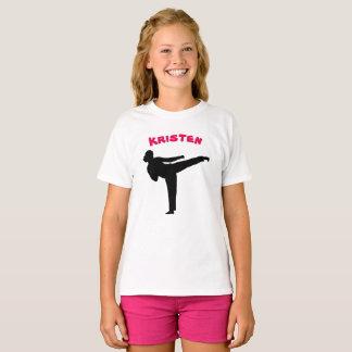 Personalised Karate Girl Shirt