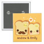 Personalised - Kawaii cute toasts couple