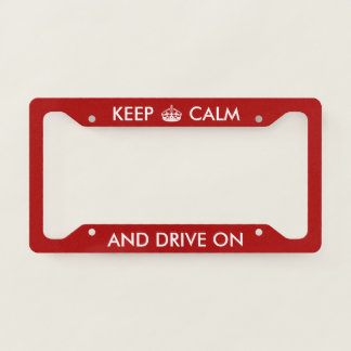 Personalised Keep Calm And Drive On With Crown